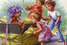 Vintage children surprise