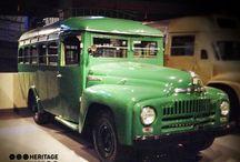 Heavy mechanised vehicles / The vintage heavy mechanised vehicles of the museum!