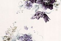 Deep Purple Floral watercolor