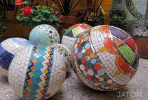 Bolas con mosaico