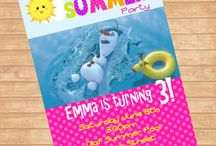 Frozen Summer Birthday / These are perfect to make a Summer Frozen party!