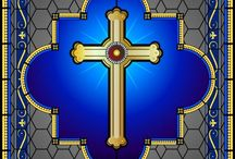 Stained Glass Cross / .