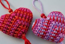 Crochet hearts / Virkade hjärtan, virkat hjärta crocheted hearts, crochet heart