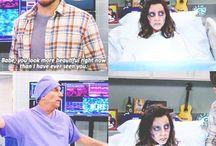 April & Andy; Leslie & Ben