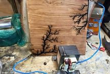 Fractal wood burning