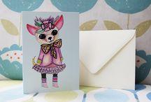 Handmade greeting cards- original designs by artist kaisa kuusik