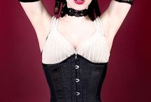 Modern Slim Corsets / Not everyone shares a preference for dramatically nipped-in waistlines. The corsets on this board will still pull in and flatten a protruding tummy, provide back support and serve as cute fashion accessories without creating a wasp-waist silhouette.