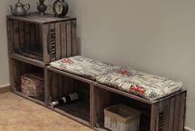 Lavice, botníky, sedačky, sedáky / Bedýnková stavebnice SKYWANDER vám umožní sestavit si Váš interiér podle momentální nálady či přání, během pár minut.