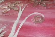 Pink Floral Mosaic WIP