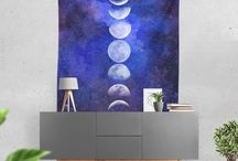 TAPESTRIES / You'll find dream-inspired custom wall hangings that are an absolute bedroom accessory for all the beautiful dreamers and Yogi's out there looking to create original atmospheres and Zen vibes.