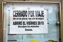 Carteles locos / Carteles cómicos en español