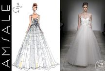 Bridal Fashion : From Sketch to Dress / Wedding dresses & gowns: See how it all begins!