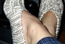 Knitted slippers & Socks