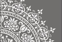 stencil e decorazioni
