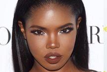 Dark skin makeup