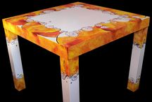 TABLES | HOME DECOR handpainted