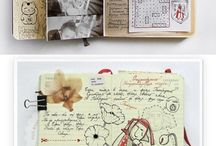 sKetCH jOURnaLs / Artist sketch journals and moleskins