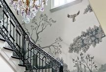 wall-paper / Wonderful paintings, hand painted de .Oboi European manufacturer tame painting and individual approach to the manufacture of each product provide exclusive
