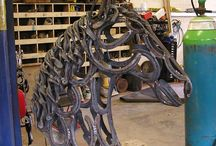 Horse Shoe Sculptures
