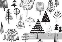 Forest doodles
