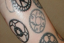 Tattoo's on cycling and bicycles