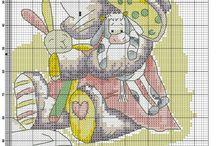 haft krzyżykowy-somebunny