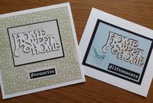 New Home Cards / This board will be full of all the cards I have created using dies and a die cutting machine. There are so many beautiful dies out there and I can't wait to get designing some more wonderful cards.