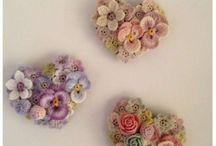 Háčkované šperky, kvety