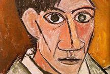 Pablo Picasso, Autoportret / 1907, NG-Praha, Veletrzni palac
