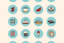 Flat Design/ Alimentos