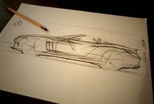 Free hand sketch / Sketchs esquemáticos de objetos - Schematic sketches of objects