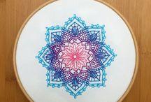 Embroidery mandala