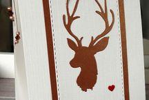 """Die- Stanze- Hirsch / Unser schöner Hirschkopf Stempel aus """"Besinnliche Weihnachten"""" hat es jetzt auch zur Stanze gebracht. Die Stanze ist etwas kleiner als der Stempel und stehen da her jeder für sich"""