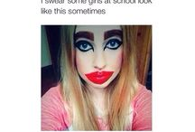 To much make up