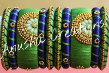 Jewels / Silk thread