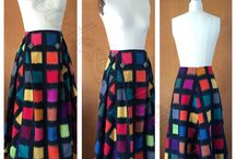 #5008 1950s PB & J Skirt /  Gorgeous 1950 skirt pattern with pleat and button detail at waist.
