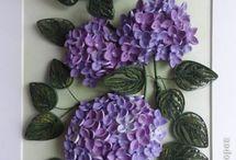 quilled flower bunch