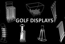 Adglow Golf Displays / Designs of our Gold Point of Sale displays