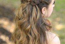 Frisuren mit offenen Haar