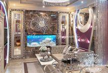 Дизайн квартиры в стиле ар-нуво в ЖК «Город Набережных» / Дизайн интерьера квартиры в ЖК «Город Набережных» выполнен студией Анжелики Прудниковой в стиле ар-нуво.  Выбранный дизайн делает квартиру неповторимой. В ней соединяется полёт фантазии, уют и роскошь. Каждая комната имеет свою цветовую гамму, благодаря чему создаётся особый визуальный контраст.