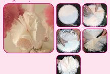 How to Make Doily Pom-poms / For complete DIY tutorial, go to http://pieceofcakethebook.blogspot.com/2013/08/do-it-yourself-pom-poms.html