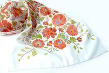 Hand painted silk scarves / Hand painted silk scarves from AndreaSilk