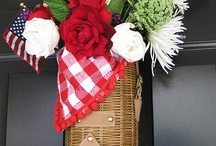 Patriotic Holiday Decorating / Home & Party Decor for: Memorial Day, 4th of July & Veterans' Day