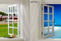 Real estate background correction service