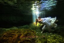 Underwater photography. TTD in a Hole Skin