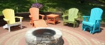 Patio Furniture...Finishing Touch! / Visit one of our retail stores to see our large selection of Adirondack style furniture. We have an extensive assortment of styles and colors. All made from recycled milk jugs giving you peace of mind with this maintenance free furniture option. Our Quality Built line is made right here in Wisconsin!