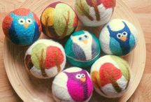 Felting soaps, stones dryer balls