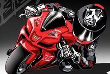 caricaturas de motos
