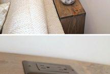 meuble de derrière de divan