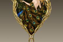 peacock jewellery